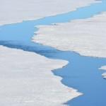 Fractura en el hielo.