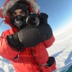 Reflejado en la esfera del Polo Sur de las celebraciones.