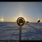 Halo y marca del Polo Sur.