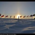 De nuevo el halo con el Polo Sur de las celebraciones.