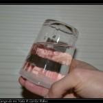 Haciendo experimentos con el hielo. El agua se congela de fuera hacia adentro (en un vaso), asi que a mitad de proceso tienes un vaso de hielo con agua fresquita dentro!