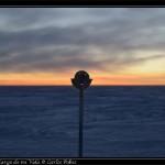 Polo Sur geografico, testigo del anochecer.