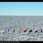 Dia espectacular en el Polo Sur. Visibilidad total y casi nada de viento.