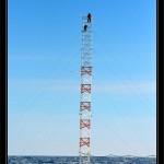 Como siempre Sven y yo a turnos para no abandonar demasiado el telescopio. Aqui esta el ahora en lo alto de la torre!