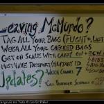 Instrucciones en la terminal de McMurdo.