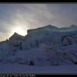 El hielo se eleva varios metros.