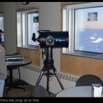 Un telescopio óptico para uso del personal de la base.