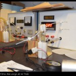 Calibrando los instrumentos de la sonda atmosférica antes de su lanzamiento.