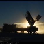 El South Pole Telescope para el estudio del fondo cósmico de microondas.