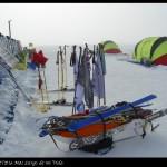 Instalaciones del campamento de turistas.