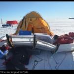 El catamarán polar de la expedición de Acciona.