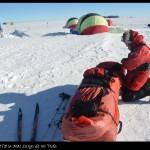 Albert Bosch tras alcanzar el Polo Sur.