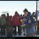 Explorador inglés durante el acto de conmemoración del centenario de la llegada de Scott al Polo.
