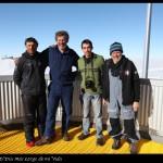 Con los amigos de la expedición de Acciona en la terraza.
