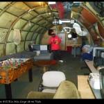 Sala recreativa en el campamento de verano.