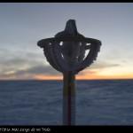 Marca del Polo Sur geográfico.
