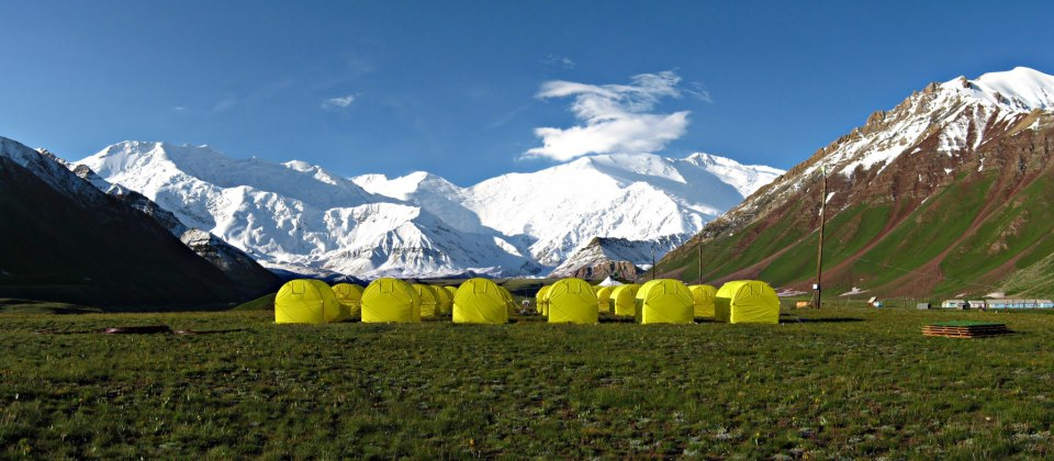 Lenin Peak Base Camp