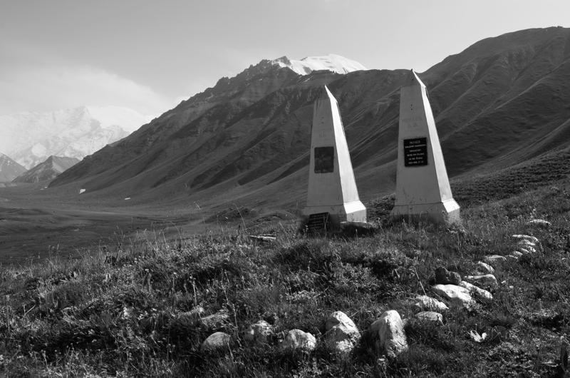 Uno de los monumentos en memoria de dos pilotos.