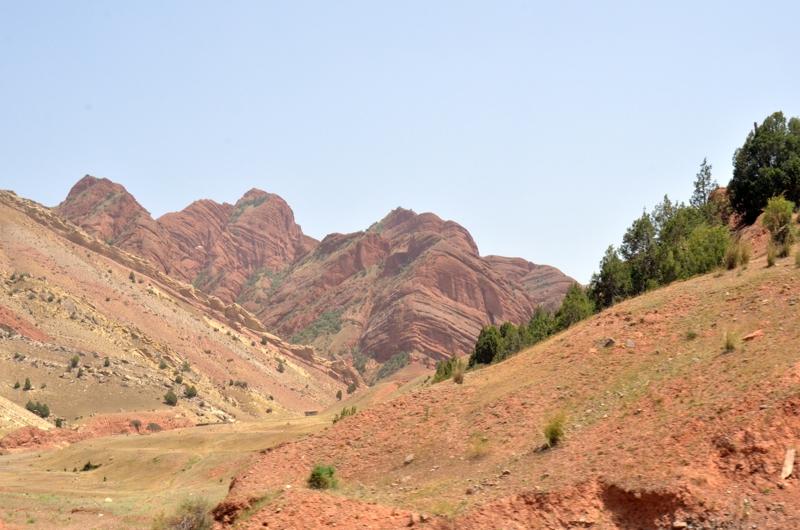 a las áridas montañas