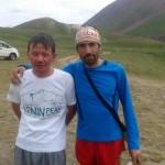 Con Ildar, un guía ruso que ha coronado el Lhotse.