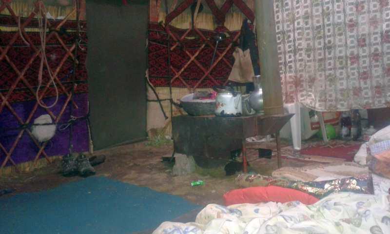 Interior con estufa