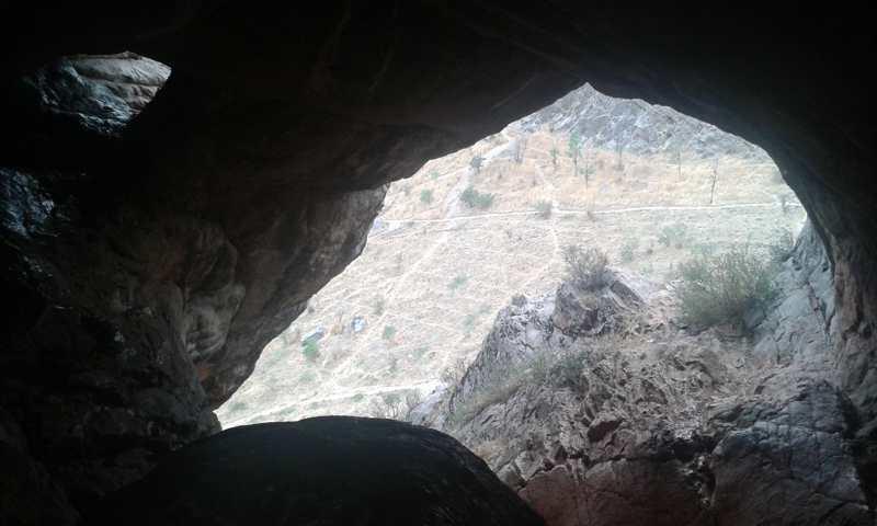 Oquedades en la montaña de Suleiman.