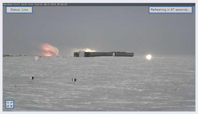 Luces en los alrededores de la base Amundsen-Scott. 20-Junio 23:30 (GMT+2)