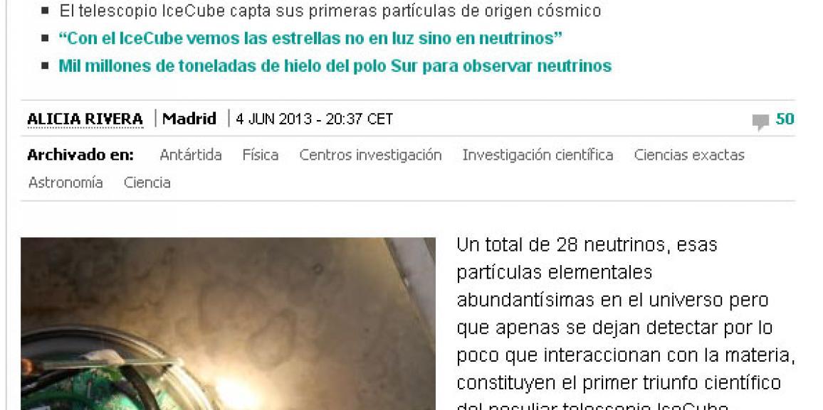 Epi el neutrino extraterrestre (I)